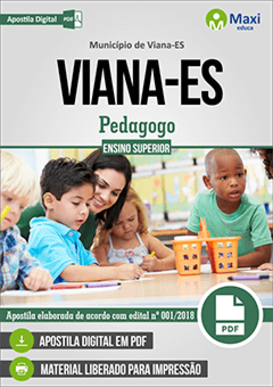 Capa - Apostila Digital em PDF do Município de Viana-ES - Pedagogo