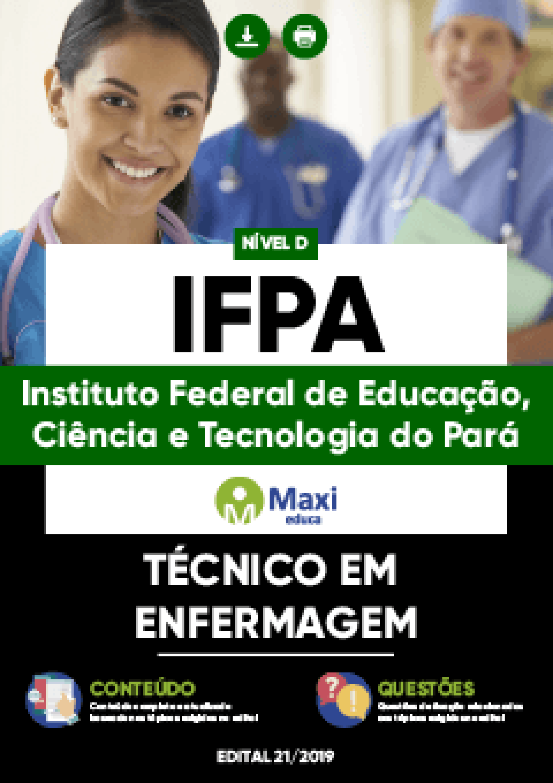 Capa - Apostila Digital em PDF do Instituto Federal de Educação, Ciência e Tecnologia do Pará - IFPA - Técnico em Enfermagem