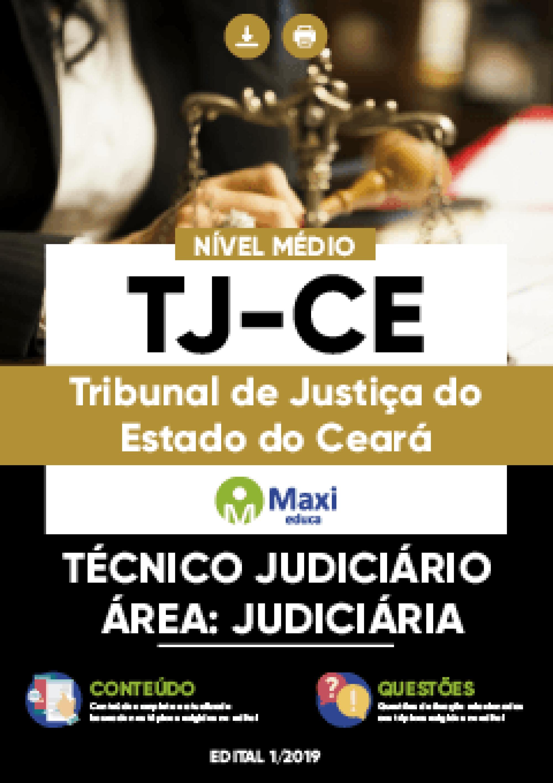 Capa - Apostila Digital em PDF do Tribunal de Justiça do Estado do Ceará - TJ-CE - Técnico Judiciário -Área: Judiciária
