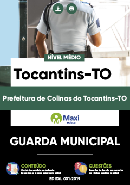 Capa - Apostila Digital em PDF da Prefeitura de Colinas do Tocantins-TO - Guarda Municipal