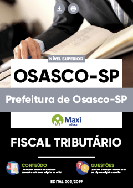 Capa - Apostila Digital em PDF da Prefeitura de Osasco-SP - Fiscal Tributário
