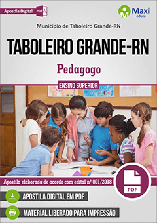 Capa - Apostila Digital em PDF do Município de Taboleiro Grande-RN - Pedagogo