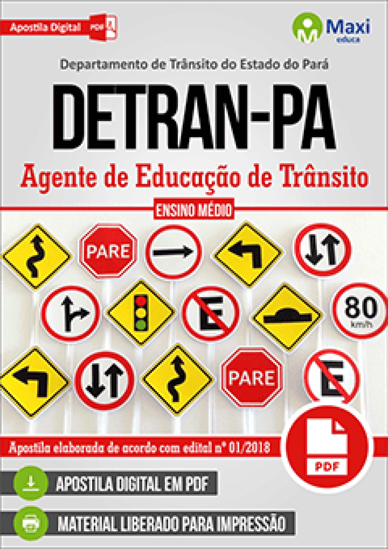 Capa - Apostila Digital em PDF do Departamento de Trânsito do Estado do Pará - DETRAN-PA - Agente de Educação de Trânsito