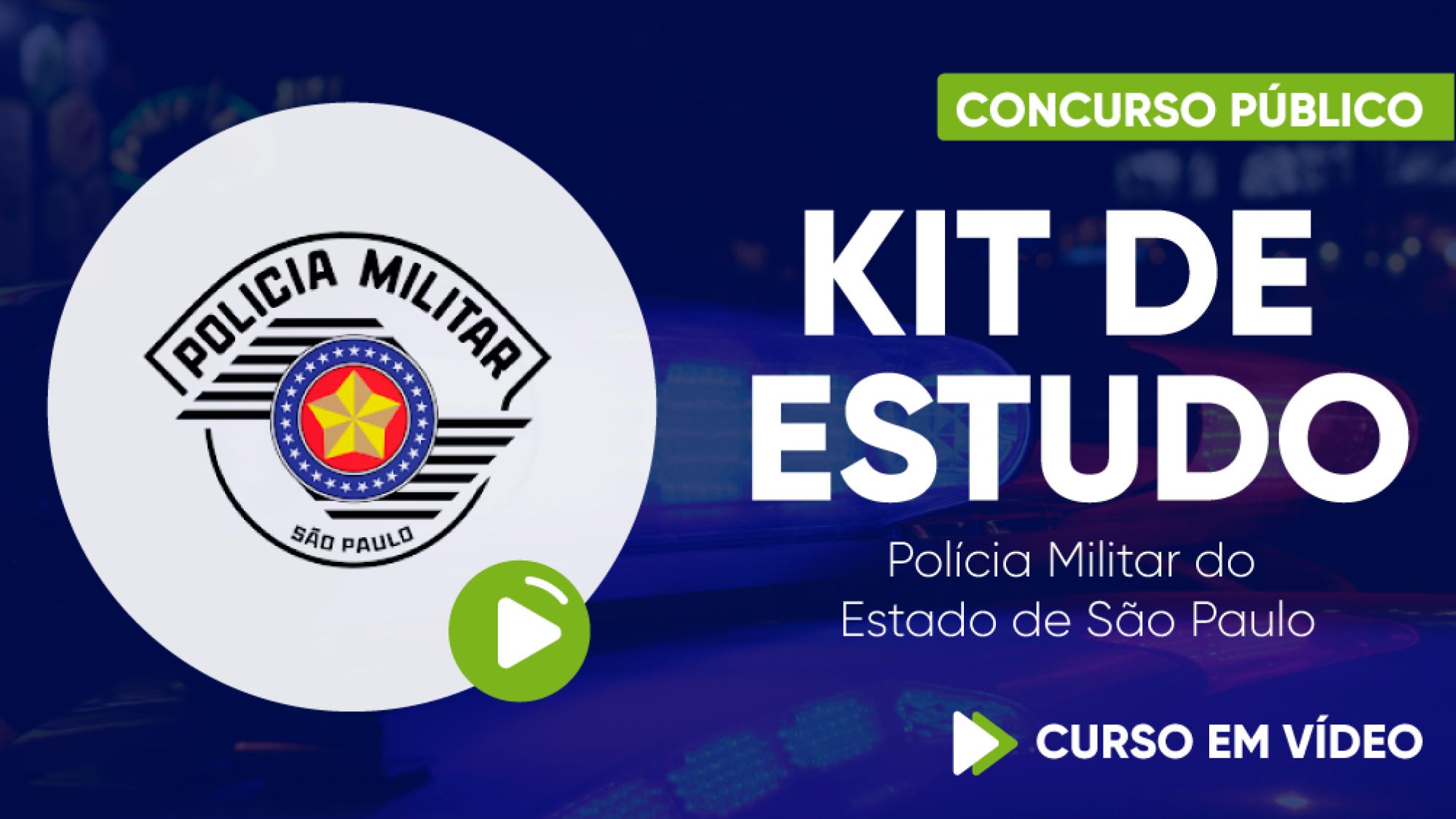 Capa - Kit de Estudo: Polícia Militar de São Paulo - Soldado PM de 2ª Classe