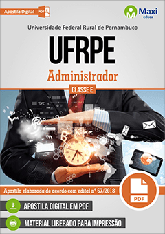 Capa - Apostila Digital em PDF da Universidade Federal Rural de Pernambuco - UFRPE - Administrador