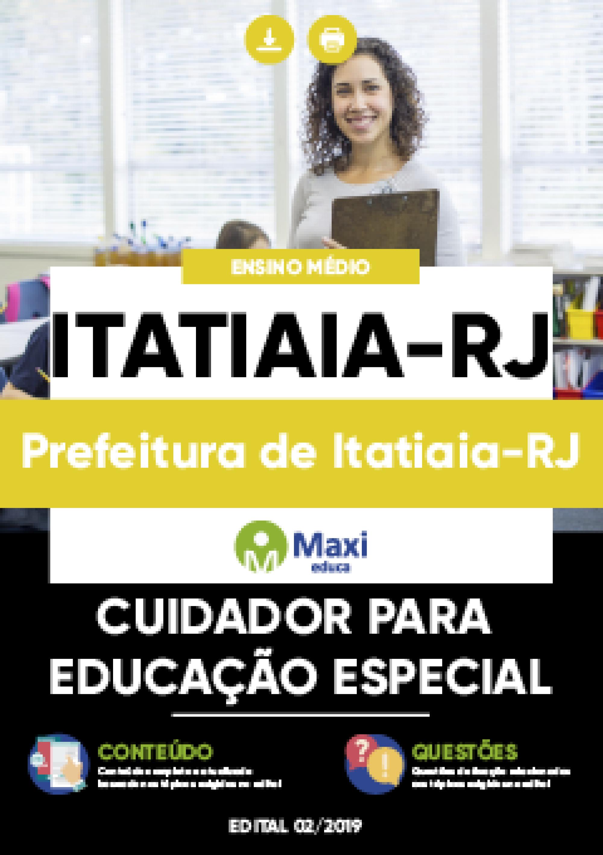 Capa - Apostila Digital em PDF da Prefeitura de Itatiaia-RJ - Cuidador para Educação Especial