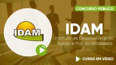 Curso Gratuito  IDAM - Instituto de Desenvolvimento Agropecuário e Florestal Sustentável do Estado do Amazonas - Assistente Técnico - Nível Médio