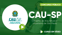 Curso do Conselho de Arquitetura e Urbanismo de São Paulo - CAU-SP